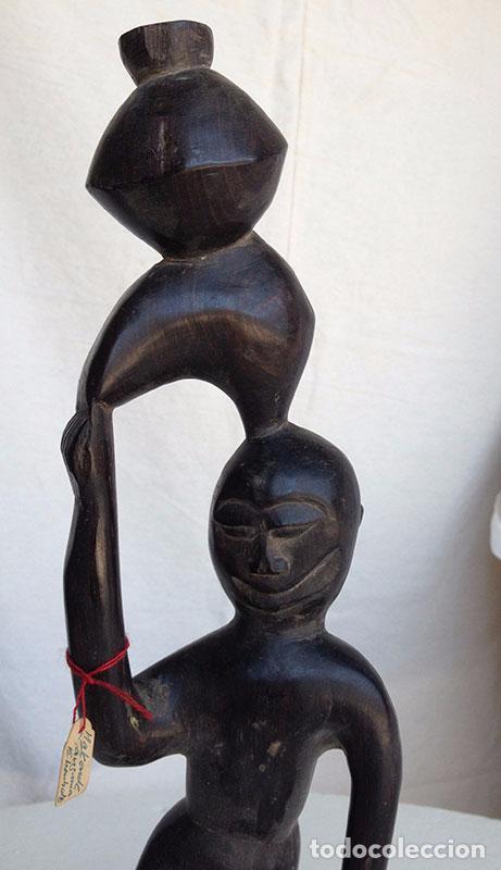 Arte: FIGURA ARTE ÉTNICO/AFRICANO EN MADERA TALLADA A MANO - Foto 8 - 91673090
