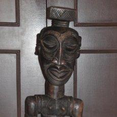 Arte: ESCULTURA TALLA DE AFRICA EN MADERA , AFRICAN FIGURE SCULPTURE - KUBA CONGO . Lote 93354000
