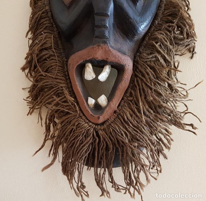 Arte: Mascara antigua de la tribu africana Himba en madera y dientes autenticos, para rituales y vudú . - Foto 6 - 93868105