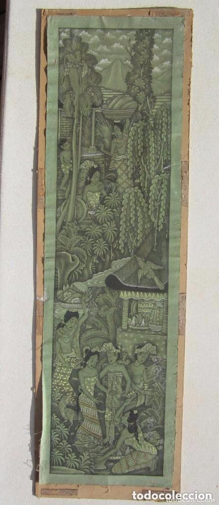 ANTIGUA TELA PINTADA A MANO FIRMADA (Arte - Étnico - Oceanía)