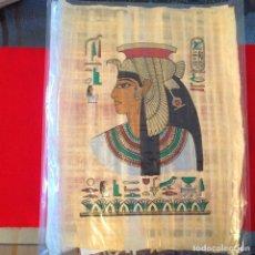 Arte: PAPIRO DE 44X34 CM COMPRADO EN EL CAIRO, EGIPTO. CON CERTIFICADO. VER FOTO. Lote 94030115