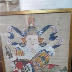 Arte: ACUARELA CHINA DE GUERRERO1860 SOBRE PAPEL DE ARROZ, ALTA CALIDAD.. Lote 94152300