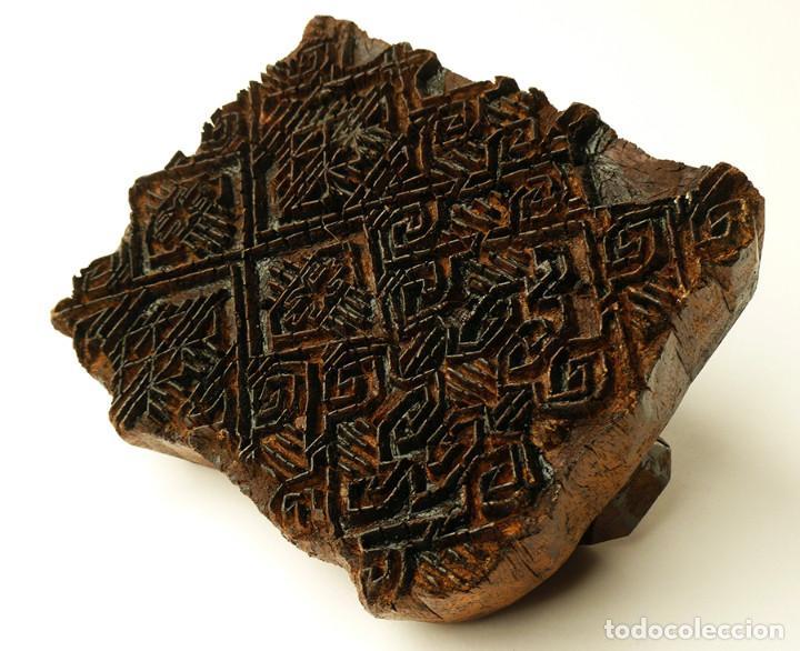 Curioso sello o tamp n de madera hind antiguo comprar - Telas de la india online ...