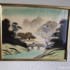 Arte: ANTIGUA PINTURA JAPONESA SOBRE SEDA. Lote 94271675