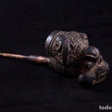 Arte: ANTIGUA PIPA AFRICANA DE TERRACOTA DE LA TRIBU AFRICANA BAMOUN, CAMERÚN. ORIGINAL. Lote 94332746