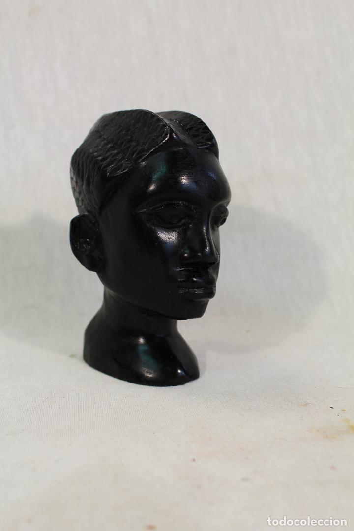 Arte: busto africano en madera tallada - Foto 5 - 94706795