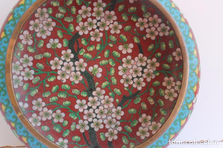 Arte: CUENCO DE BRONCE CHINO ESMALTE CLOISONNE SIGLO XIX - Foto 3 - 95002259