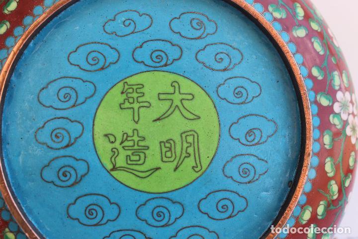 Arte: CUENCO DE BRONCE CHINO ESMALTE CLOISONNE SIGLO XIX - Foto 5 - 95002259