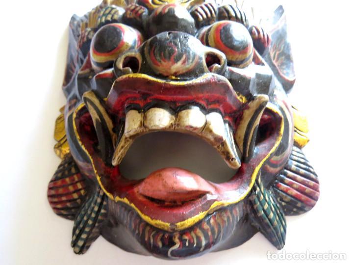 Arte: MASCARA BALI INDONESIA KUMBA KARNA WAYANG WONG - Foto 3 - 95282111