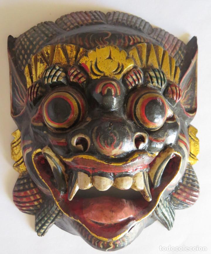 Arte: MASCARA BALI INDONESIA KUMBA KARNA WAYANG WONG - Foto 8 - 95282111