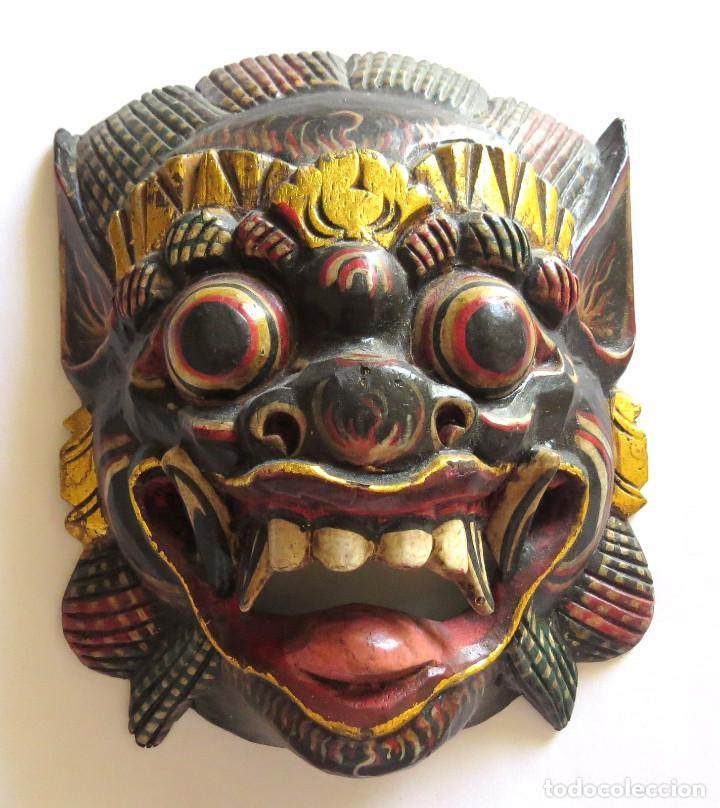 Arte: MASCARA BALI INDONESIA KUMBA KARNA WAYANG WONG - Foto 10 - 95282111