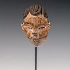 Arte: MÁSCARA DEL PUEBLO OGONI. NIGERIA, FINALES DEL SIGLO XIX. MADERA TALLADA.. Lote 96788023