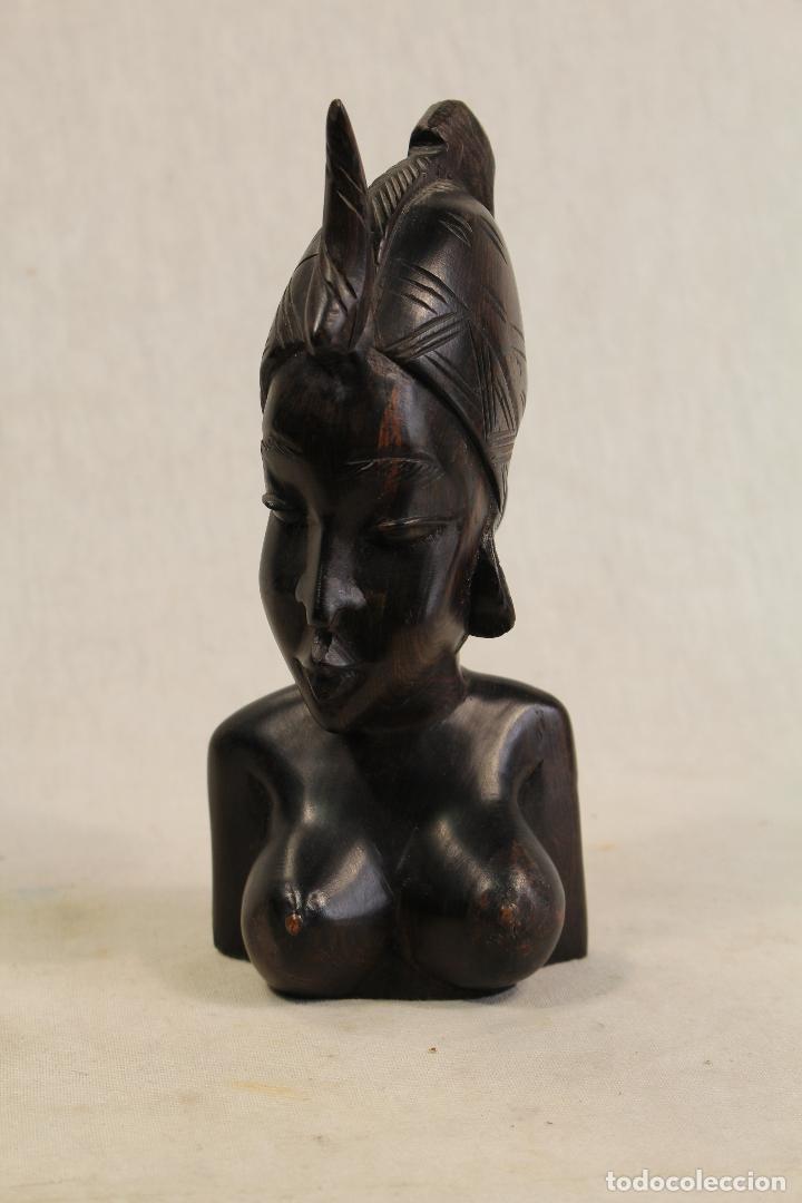 BUSTO MUJER AFRICANA EN MADERA (Arte - Étnico - África)