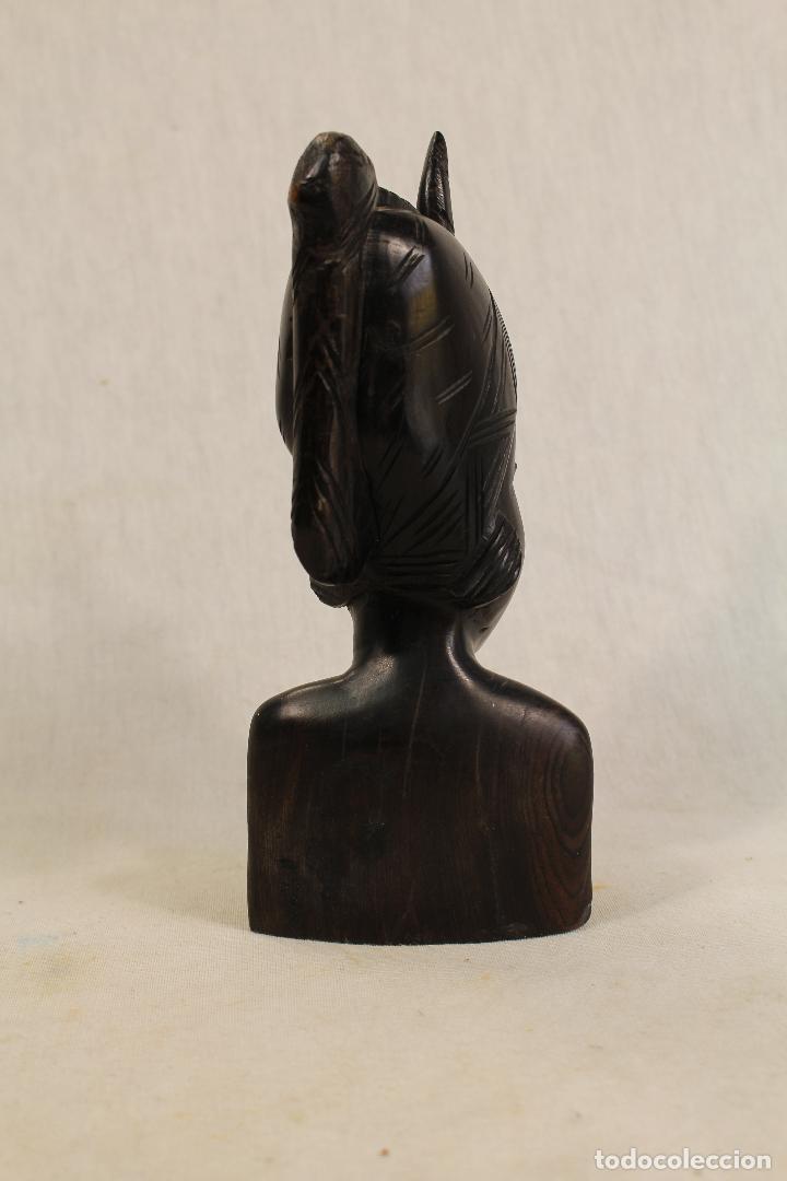 Arte: busto mujer africana en madera - Foto 4 - 98180231