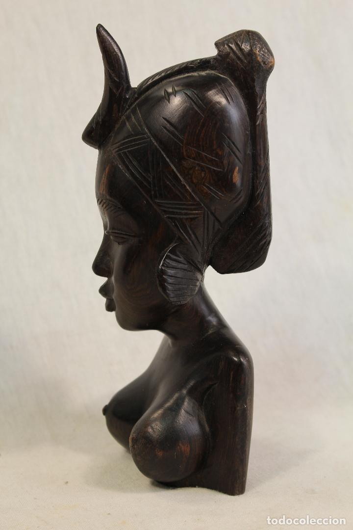 Arte: busto mujer africana en madera - Foto 6 - 98180231