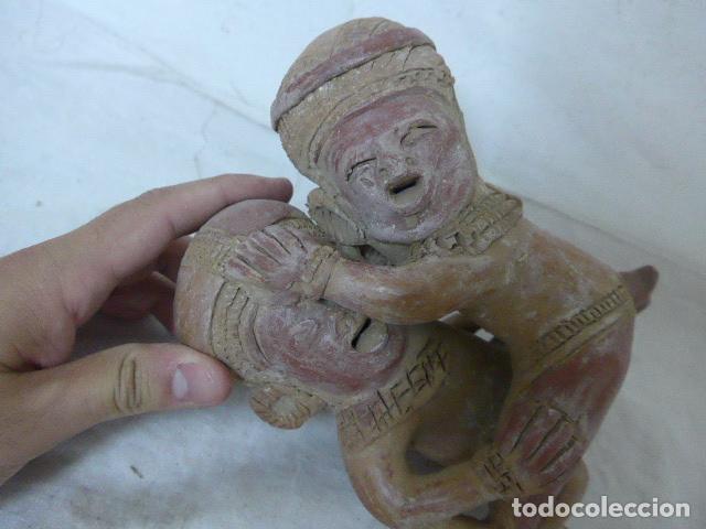 Arte: Antigua escultura erotica en terracota, de america latina. De años 60 - 70 - Foto 2 - 98526815