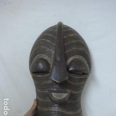 Arte: ANTIGUA MASCARA AFRICANA DE MADERA TALLADA, ORIGINAL, DE TRIBU SONGYE DE CONGO, DE AFRICA.. Lote 99149095