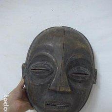 Arte: ANTIGUA MASCARA AFRICANA DE MADERA TALLADA, ORIGINAL, DE TRIBU LUBA DEL CONGO, AFRICA.. Lote 99149267