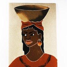Arte: CURIOSO CUADRO DE ARENA AFRICANO 48 X 30 CM . Lote 101155039