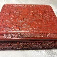 Arte: BONITA CAJA DE LACA CHINA TALLADA...ARTE ASIATICO. Lote 101159864