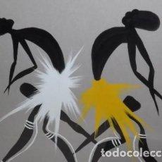 Arte: MANUEL NCULU. CUADRO DANZA AFRICANA. PINTOR LIGADO A ESPAÑA.. Lote 101307879