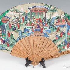 Arte: ABANICO DE LAS MIL CARAS, CHINA, PERIODO QING, SEGUNDO TERCIO DEL SIGLO XIX. Lote 101410919