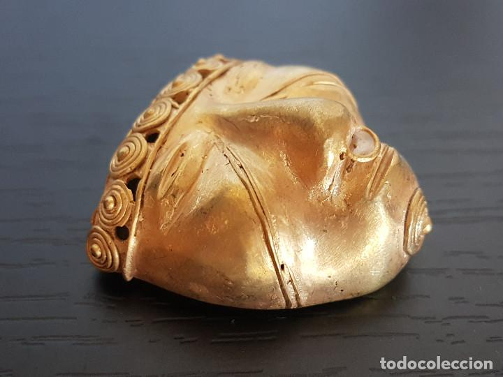 Kunst: Mascara tribal de la cultura quimbaya con 18 gramos de peso - Foto 2 - 129381832