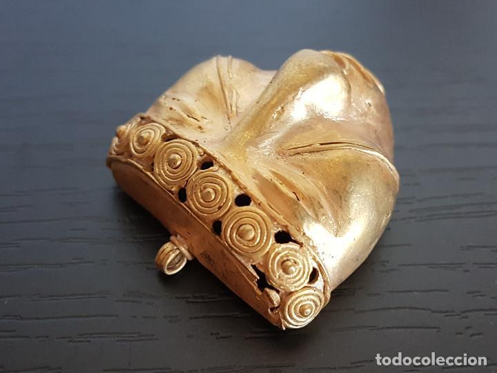 Kunst: Mascara tribal de la cultura quimbaya con 18 gramos de peso - Foto 3 - 129381832