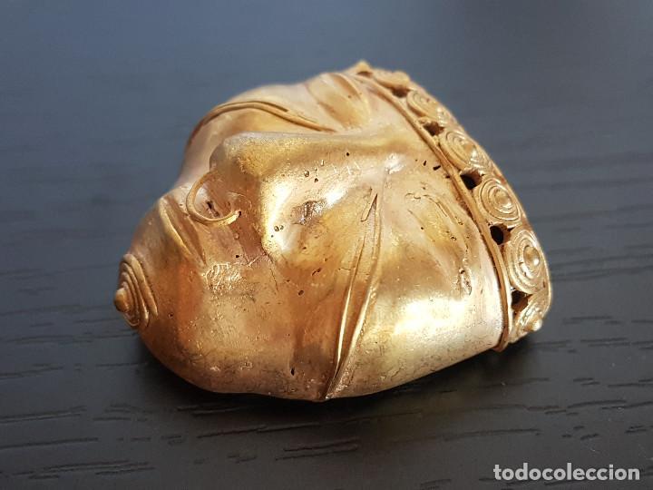 Kunst: Mascara tribal de la cultura quimbaya con 18 gramos de peso - Foto 5 - 129381832