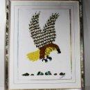 Arte: CURIOSO CUADRO CON ALAS DE MARIPOSA CON MARCO (SIN CRISTAL) CONGO 2002 55,00 X 45,00 CM LAMINA. Lote 102322039