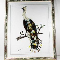 Arte: CURIOSO CUADRO CON ALAS DE MARIPOSA CON MARCO (CON CRISTAL) CONGO 2002 55,00 X 45,00 CM LAMINA. Lote 102322587