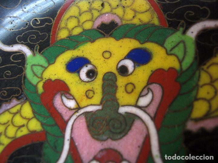 Arte: S.XIX Antiguo plato cloissone China Dragon. - Foto 2 - 102461507