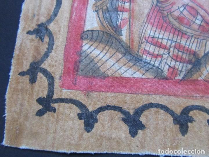 Arte: Tela pintada de Bali. Motivos étnicos rituales. 85 x 58 centímetros - Foto 12 - 102712607