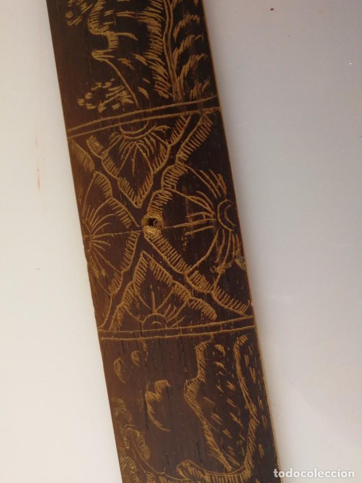 Arte: Dibujo sobre madera - Arte de Bali - 49 cm - Foto 2 - 102816443
