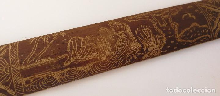 Arte: Dibujo sobre madera - Arte de Bali - 49 cm - Foto 6 - 102816443