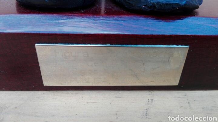 Arte: ESCULTURA FIGURA ANTROPOMORFA CEMI TAINO ARTE PRECOLOMBINO REPUBLICA DOMINICANA EN PEANA CON PLACA - Foto 4 - 103453939