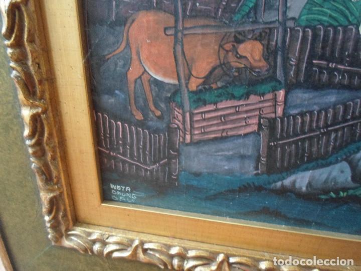 pintura de motivo asiático con marco de lujo - Comprar Arte Étnico ...
