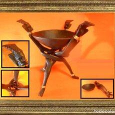Arte: CURIOSA ESCULTURA AMULETO EN MADERA DE ÉBANO AFRICANA. PARA REPRESENTACIONES INDÍGENAS. FINALES S. X. Lote 104528575