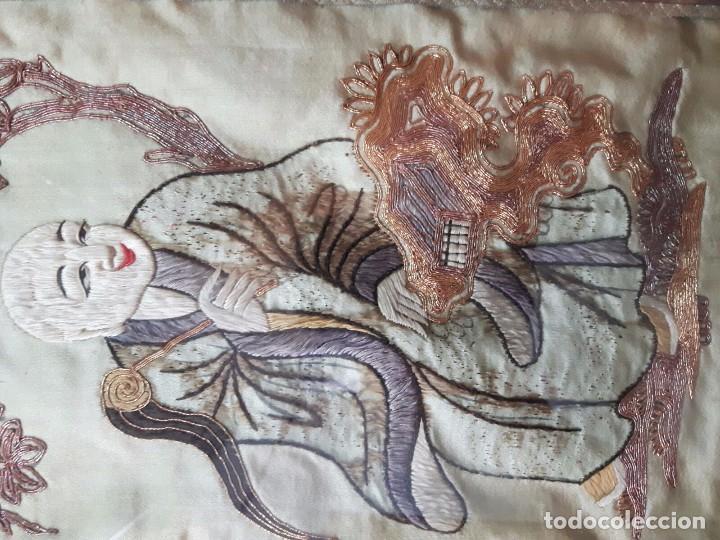 Arte: Cuadro Chino Antiguo, bordado sobre seda - Foto 3 - 104811587