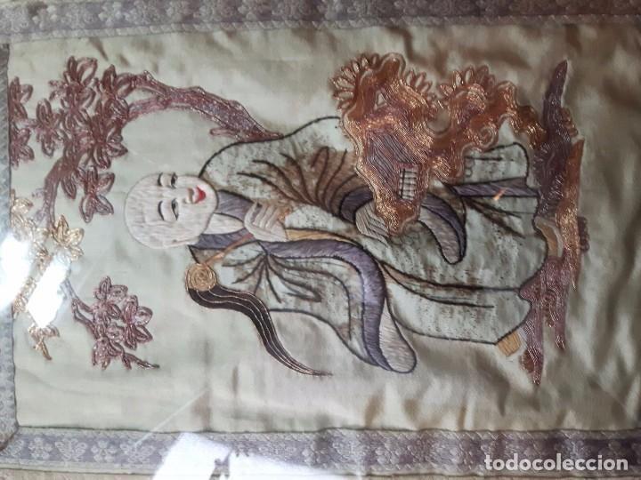 Arte: Cuadro Chino Antiguo, bordado sobre seda - Foto 4 - 104811587