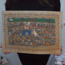 Arte: 42 CMS ARTE MEJICANO AMATE ESCENA POPULAR 1984 400 GRS. Lote 105157499