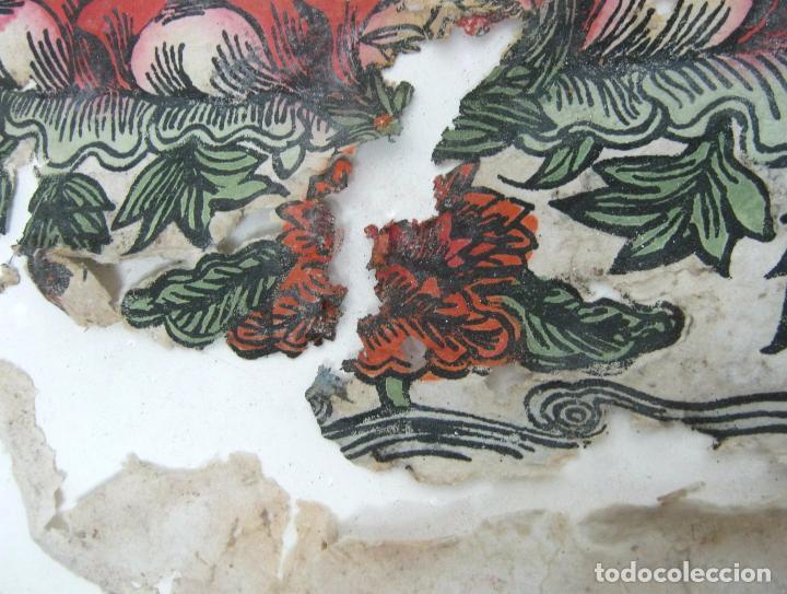 Arte: grande - Budismo Tibet - Manjushri la espada flameante - antigua pintura s/ papel a restaurar - Foto 3 - 105615303