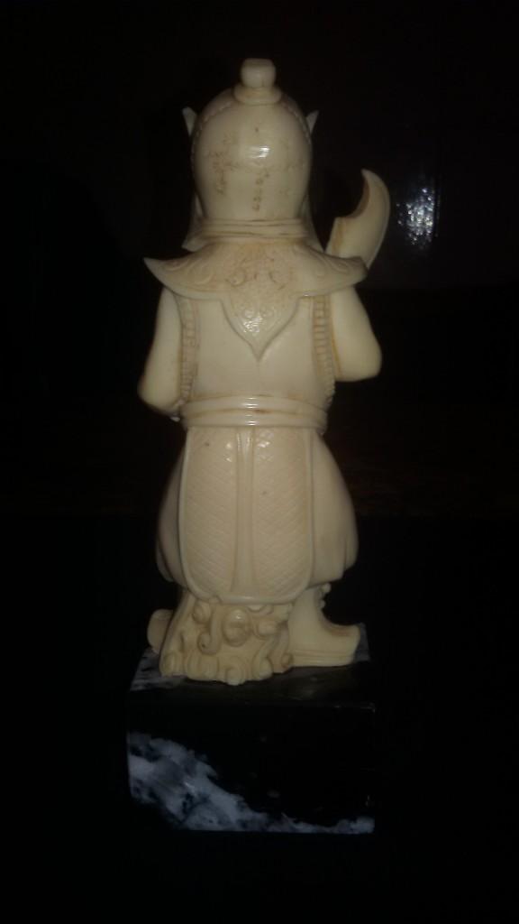 Arte: PRECIOSo samuray tallado EN LACA CHINA COLOR MARFIL,BASE DE MARMOL NEGRO. AÑOS 50/60. - Foto 5 - 105826067