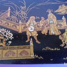 Arte: ANTIGUA CAJA CHINA LACADA DE MADERA. Lote 106655655