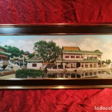 Arte: TAPIZ SEDA NATURAL ALTA CALIDAD JAPON AÑOS 60...ENMARCADO --82 X 37 CM BUEN ESTADO(REF-1AC-26) . Lote 107201323