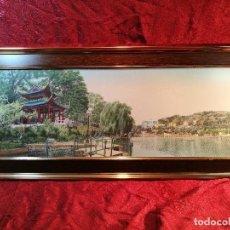 Arte: TAPIZ SEDA NATURAL ALTA CALIDAD JAPON AÑOS 60...ENMARCADO --82 X 37 CM BUEN ESTADO(REF-1AC-28) . Lote 107201531