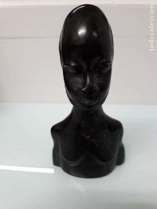 FIGURA AFRICANA - BUSTO MADERA (Arte - Étnico - África)