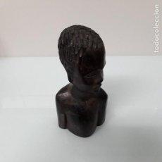 Arte: FIGURA AFRICANA - BUSTO DE MADERA. Lote 108002987