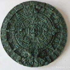 Arte: CALENDARIO SOLAR AZTECA. PIEDRA ARTIFICIAL. 30 CM DIAM - 1 KG DE PESO.. Lote 109007759