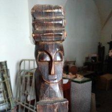 Arte: COLUMNA TALLADA EN MADERA. AFRICA. Lote 109464267